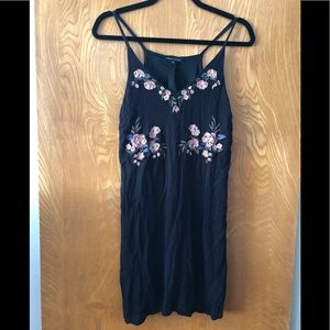 Kendall and Kylie floral embroidered tank dress M